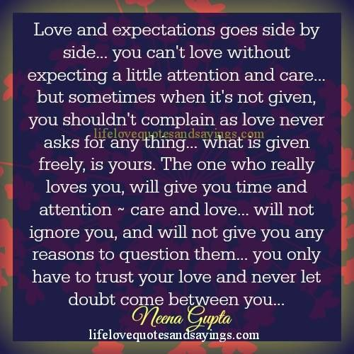 Image Result For Quotes On Expectations In Love