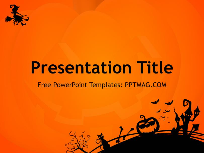 Free halloween powerpoint template pptmag flyer halloween free halloween powerpoint template pptmag toneelgroepblik Images