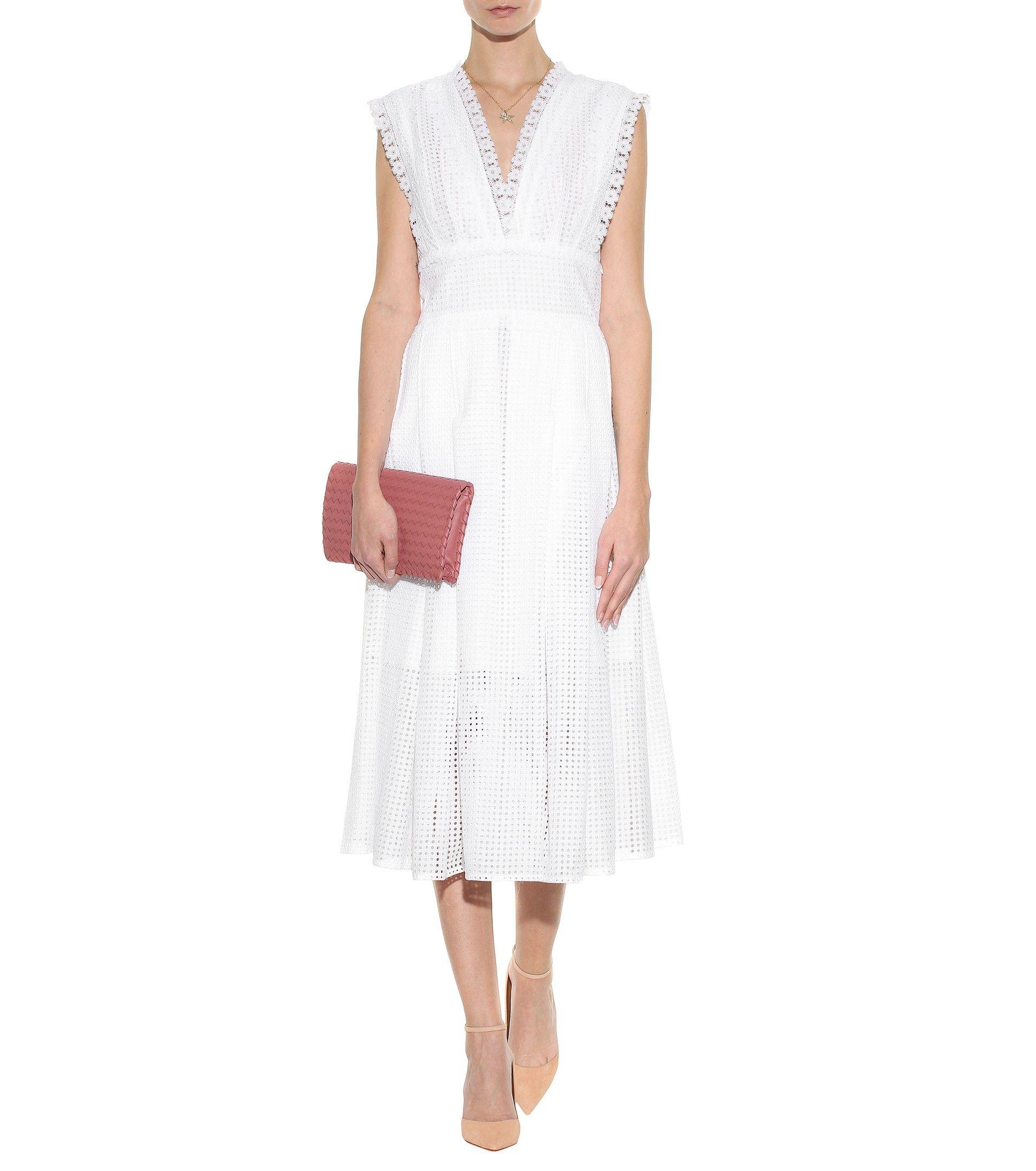 Cotton Eyelet Dress » Oscar de la Renta ► mytheresa.com