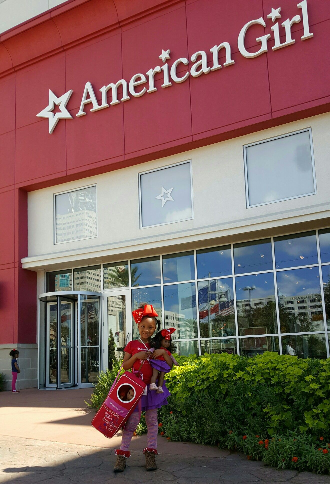 Heading inside to some excitement forsure, today is my scheduled MeetUp with other American Girl Fans like Me. @americangirlbrand #americangirlbrand