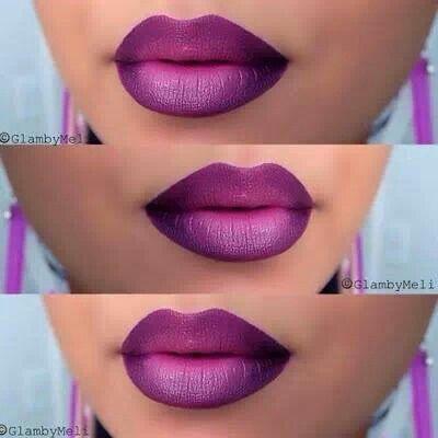 Dark Purple Ombre Lips