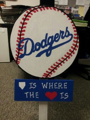 All Dodger Fans Must Have One Baseball Crafts Woodworking