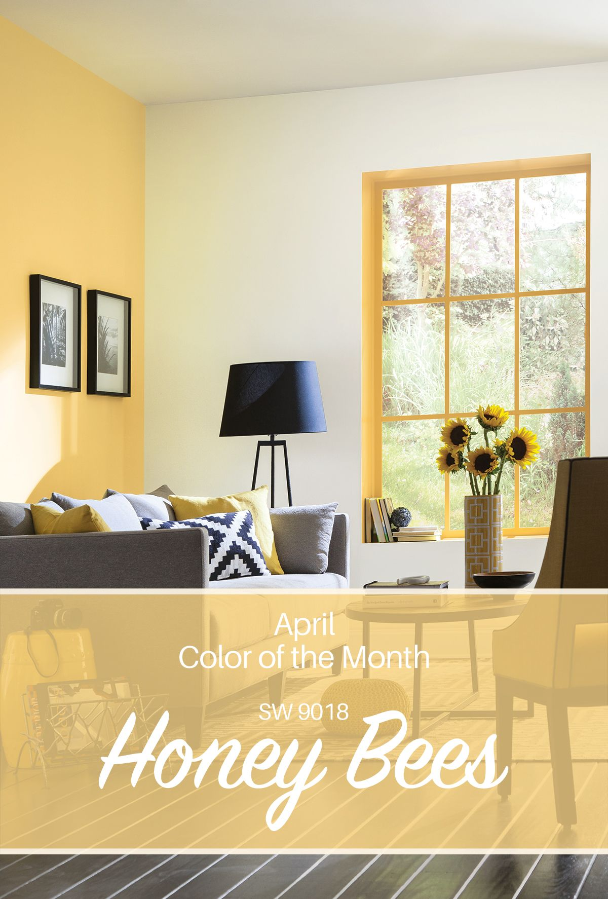 Ombre technique supplies and tips from sherwin williams - Sherwin Williams April Color Of The Month Honey Bees Sw 9018