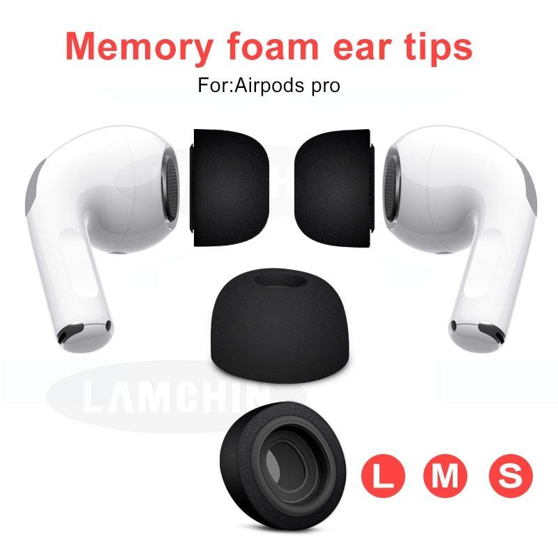 Sponge Silicone Memory Foam Ear Tips For Airpods Pro Replacement Earpads For Apple Airpods Pro Bluetooth Airpods Pro Bluetooth Earphones Memory Foam