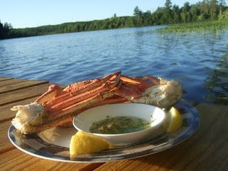 Grilled Crab Legs, Cabin Style