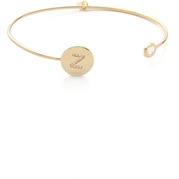Tai Letter Open Cuff Bracelet 66 Liked On Polyvore Featuring Jewelry Bracelets Z Hinged Initial Bangle