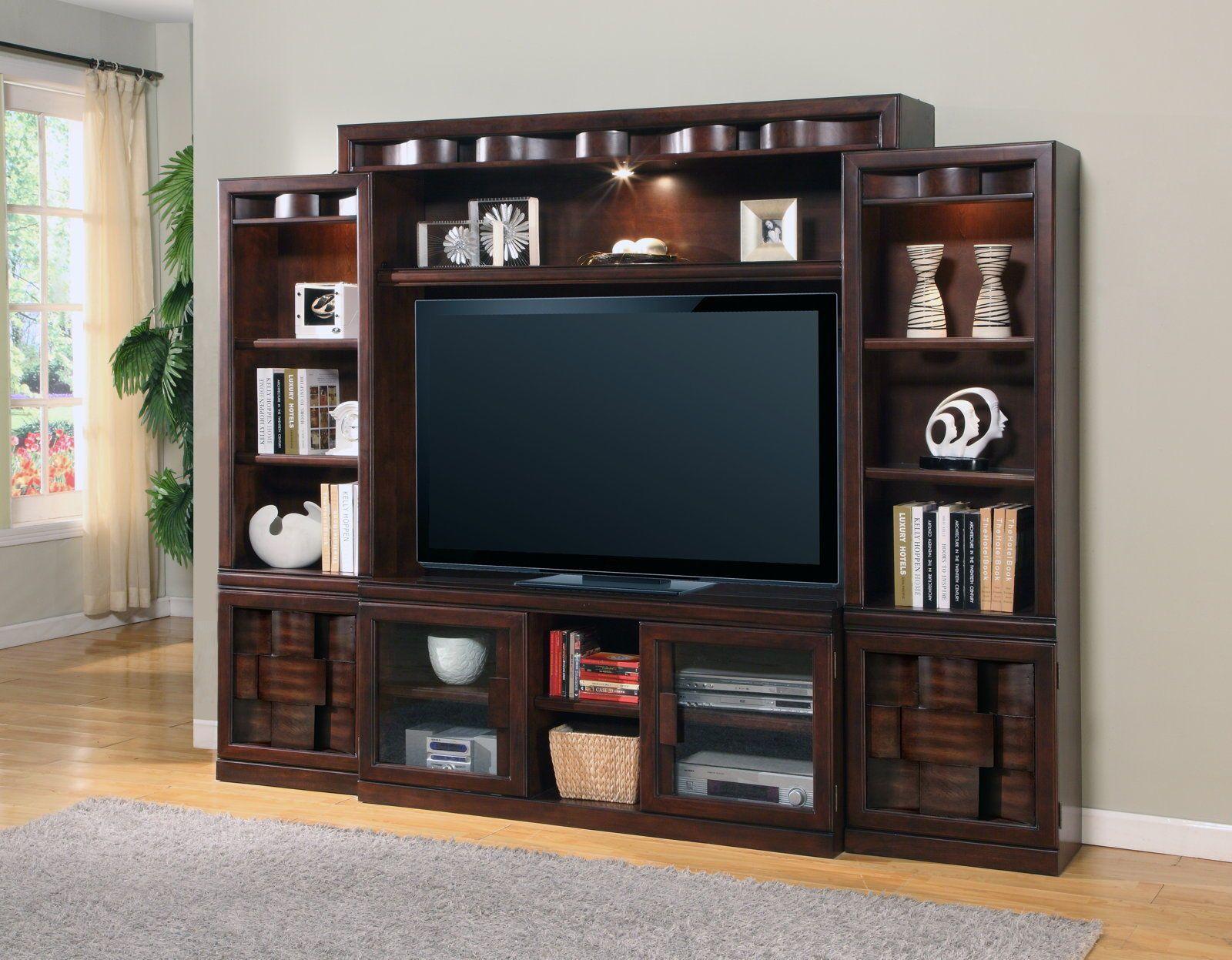 centro de entretenimiento etageres murales etagere tv mur de bois meuble de rangement