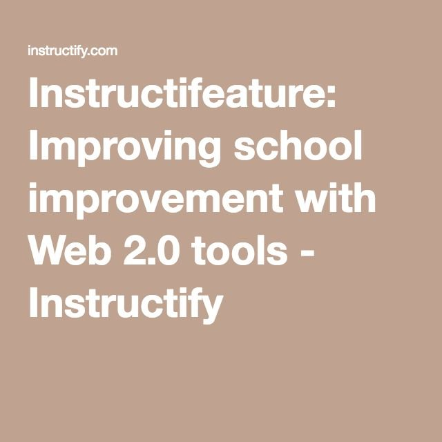 Instructifeature: Improving school improvement with Web 2.0 tools - Instructify