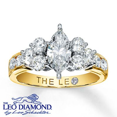 This Leo Diamond Engagement Ring Is Sparkling With