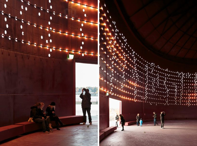 Lighting design collective convert silo into public light show