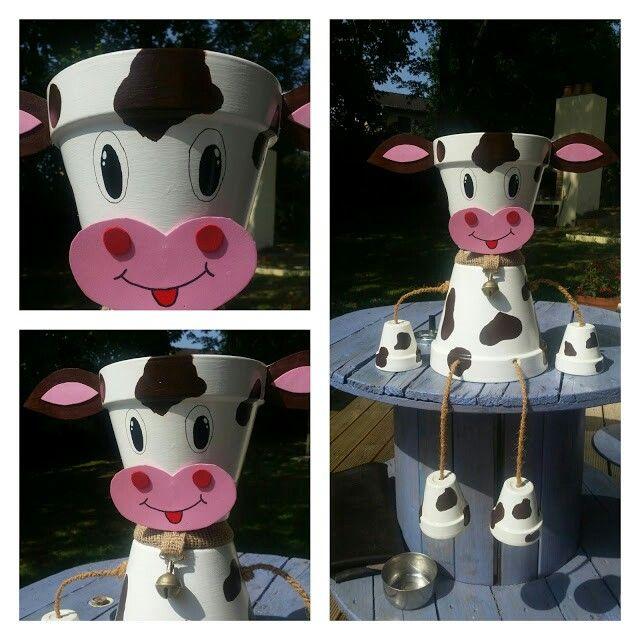 Deco pot de terre vache | summer | Pinterest | Vache, De terre et Pots