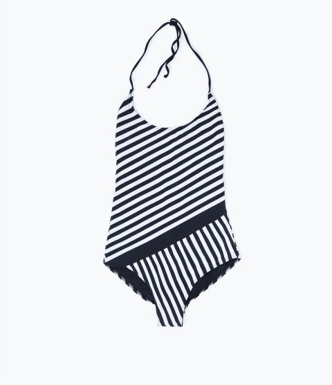 Zara Striped Swimsuit. Shop it and 26 other sexy one pieces.