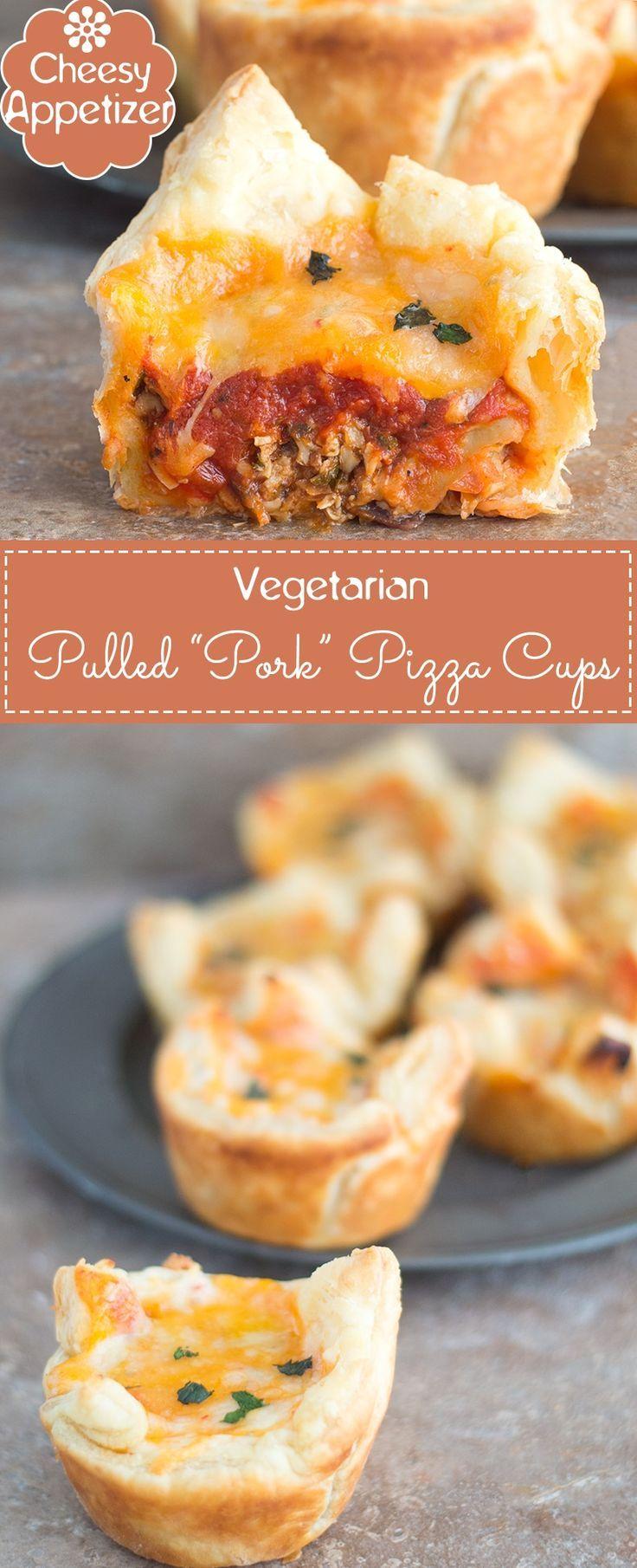 Veggie Pulled Pork Pizza Cups Recipe Food recipes