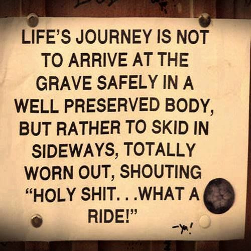 Life S Journey Is Not To Arrive At The Grave Safely In A Well Preserved Body But Rather Happy Quotes Smile Quotes To Live By Short Happy Quotes