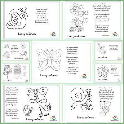 Lee y colorea poemas de primavera   Poemas de primavera, Poemas de y ...