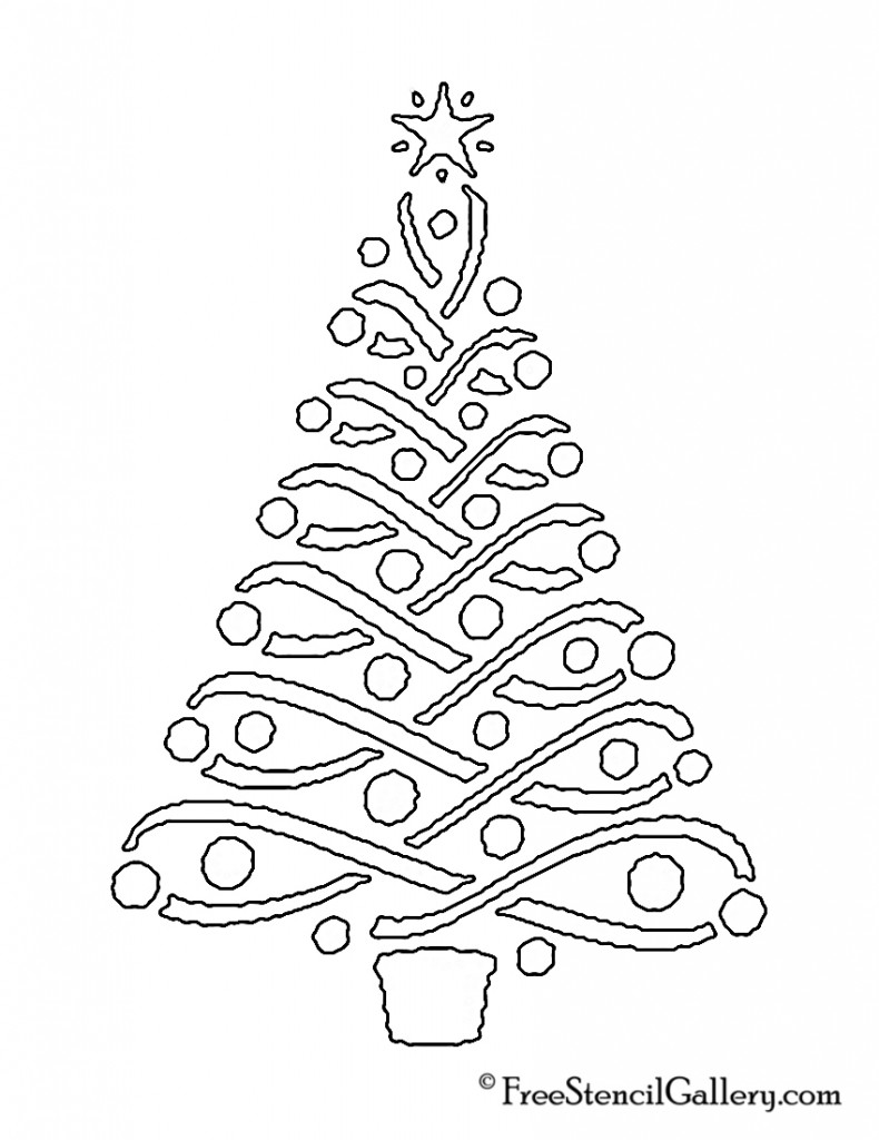 Christmas Tree Stencil 14 Christmas tree stencil, Tree