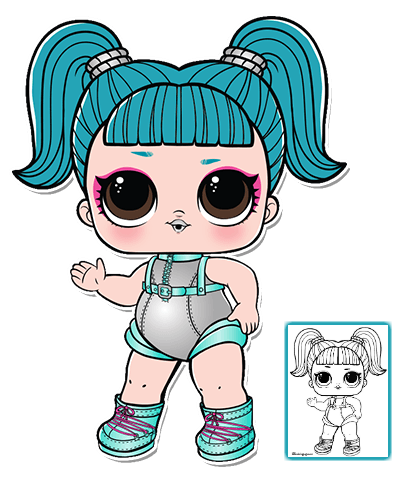 Click To Download Coloring Sheet Lol Dolls Lol Doll Drawing