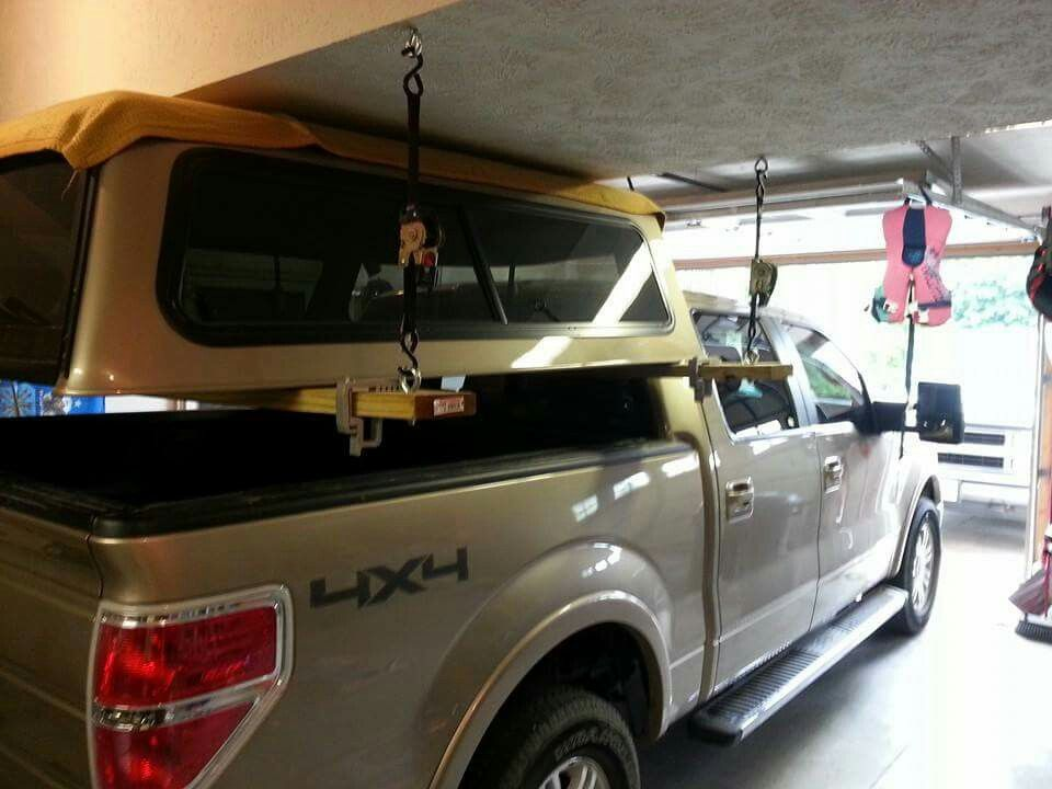 Simple Easy Topper Storage For When You Need An Open Pickup Bed