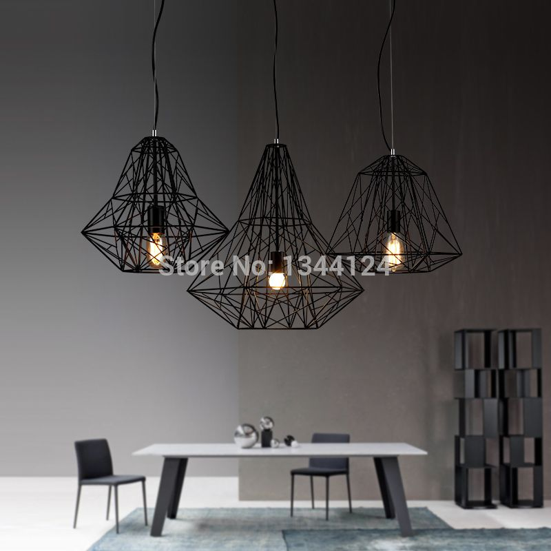 aile royale lampe de fer r tro bar scandinave moderne style industriel minimaliste diamant. Black Bedroom Furniture Sets. Home Design Ideas