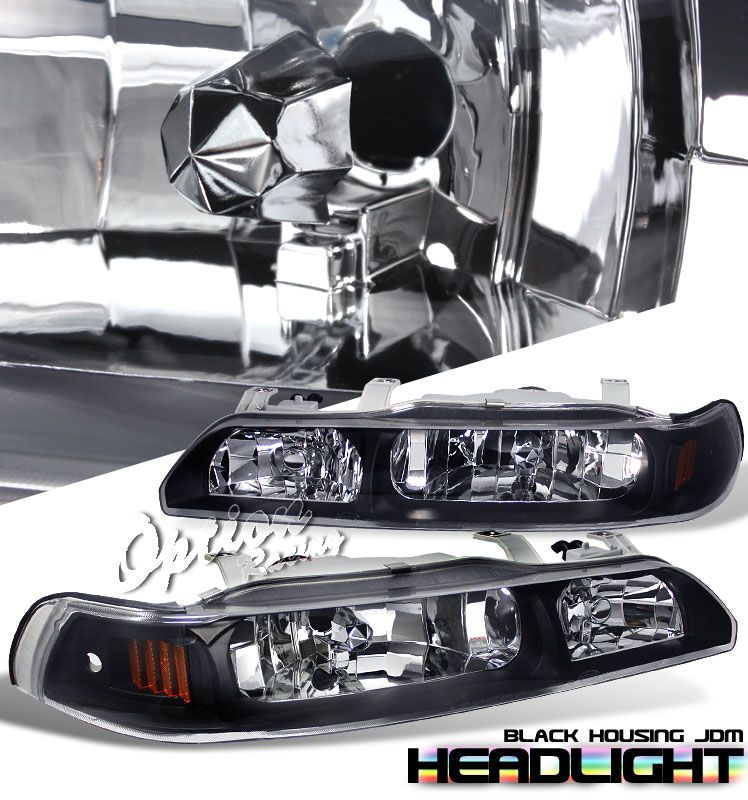 acura lights bk euro headlights tail dr black style integra p