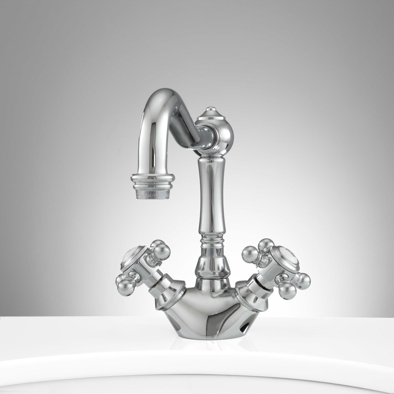 Bathroom faucet deck mounted brass bath spout modern bathroom faucets - Montello Single Hole Bathroom Faucet With Pop Up Drain Single Hole Faucets