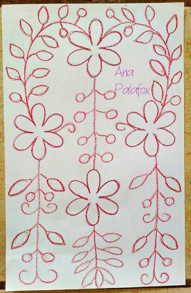 Patrón para camino de mesa | dibujos para bordar | Pinterest ...