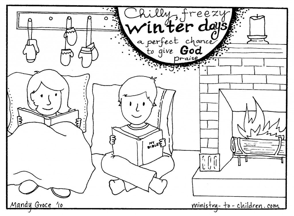 Here Is A Perfect Way To Celebrate Those Cold Winter Days And Remind Kids Praise God This One Just Of Our Seasonal Coloring Pages By Mandy Groce