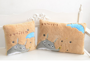 2pcs/lot My Neighbor Totoro Lovely yellow square and rectangle plush pillow, soft feeling,best gift