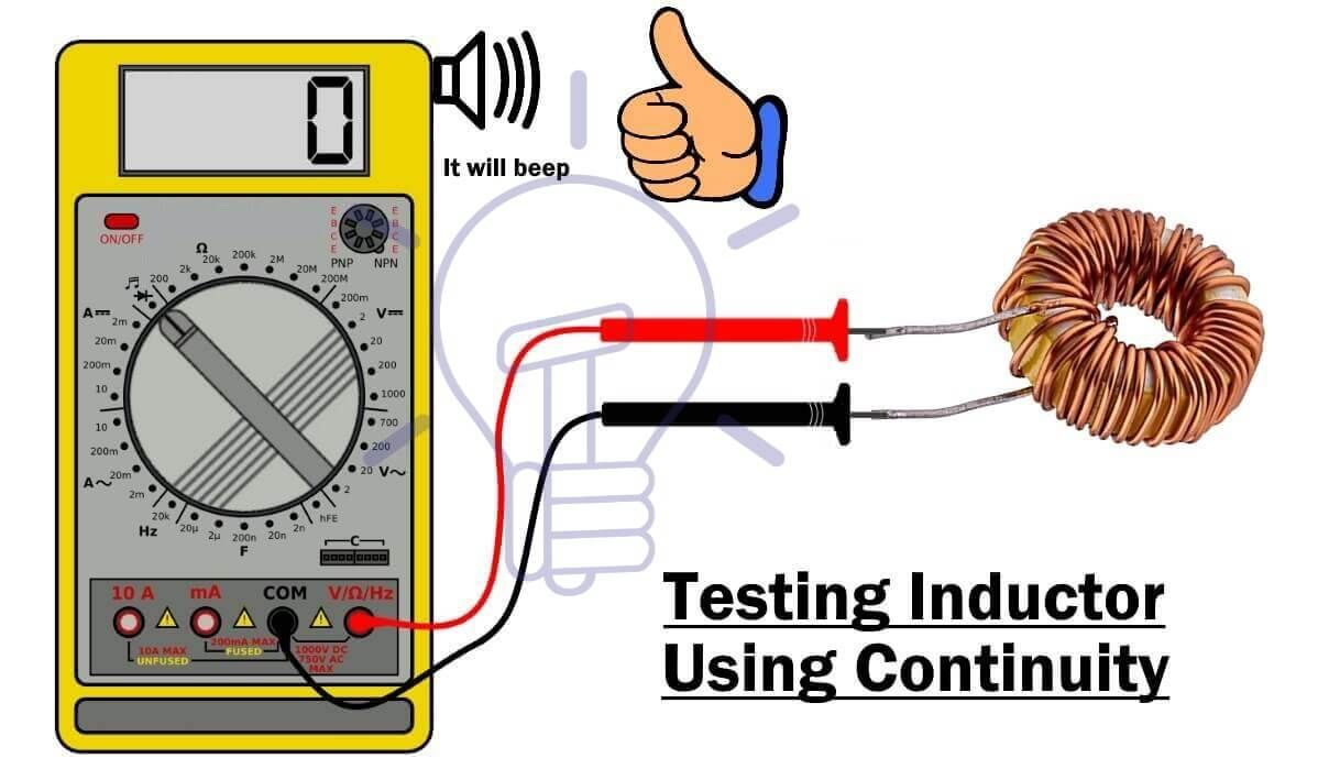 How To Perform A Continuity Test For Electric Components With Multimeter Multimeter Electronics Projects Diy Electrical Projects
