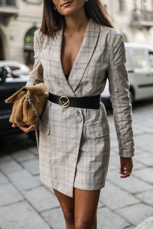 robe blazer femme a carreaux