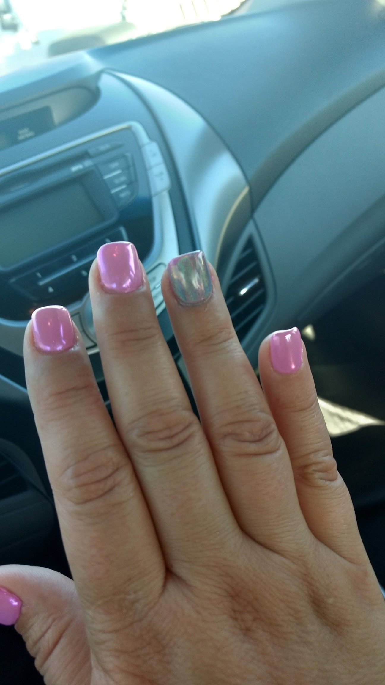 Hologram nails by Q at Unique Nails & Spa in Hesperia. (They look ...