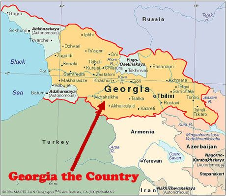 Map Of Georgia The Country Georgia Pinterest Georgia - Georgia map in english