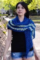 Stribet Shawl Crochet Wrap from Ancient Arts Yarn