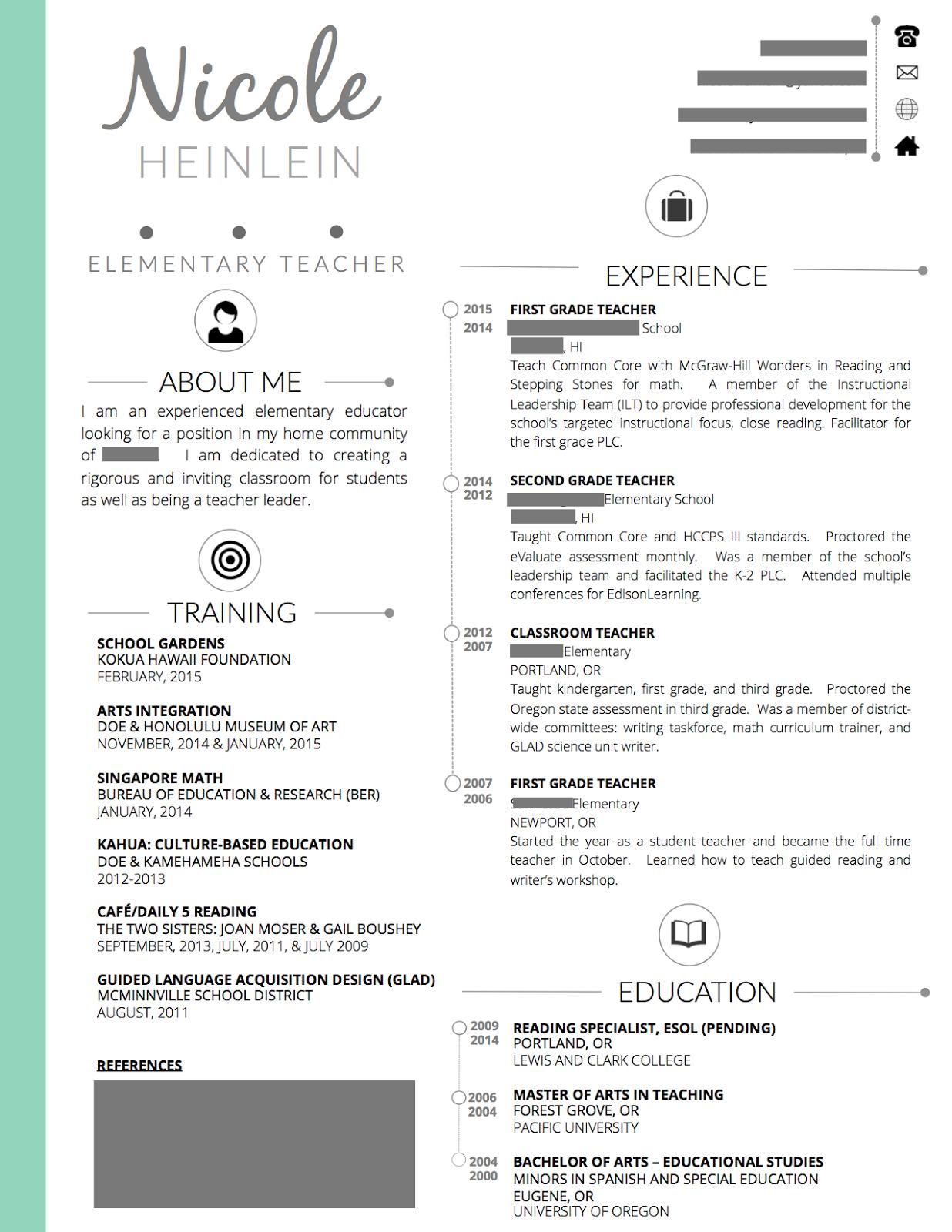 resume education transfer student