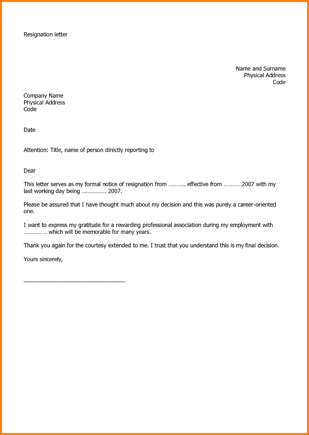 New Quitting Job Letter Example Util Resignation Letter