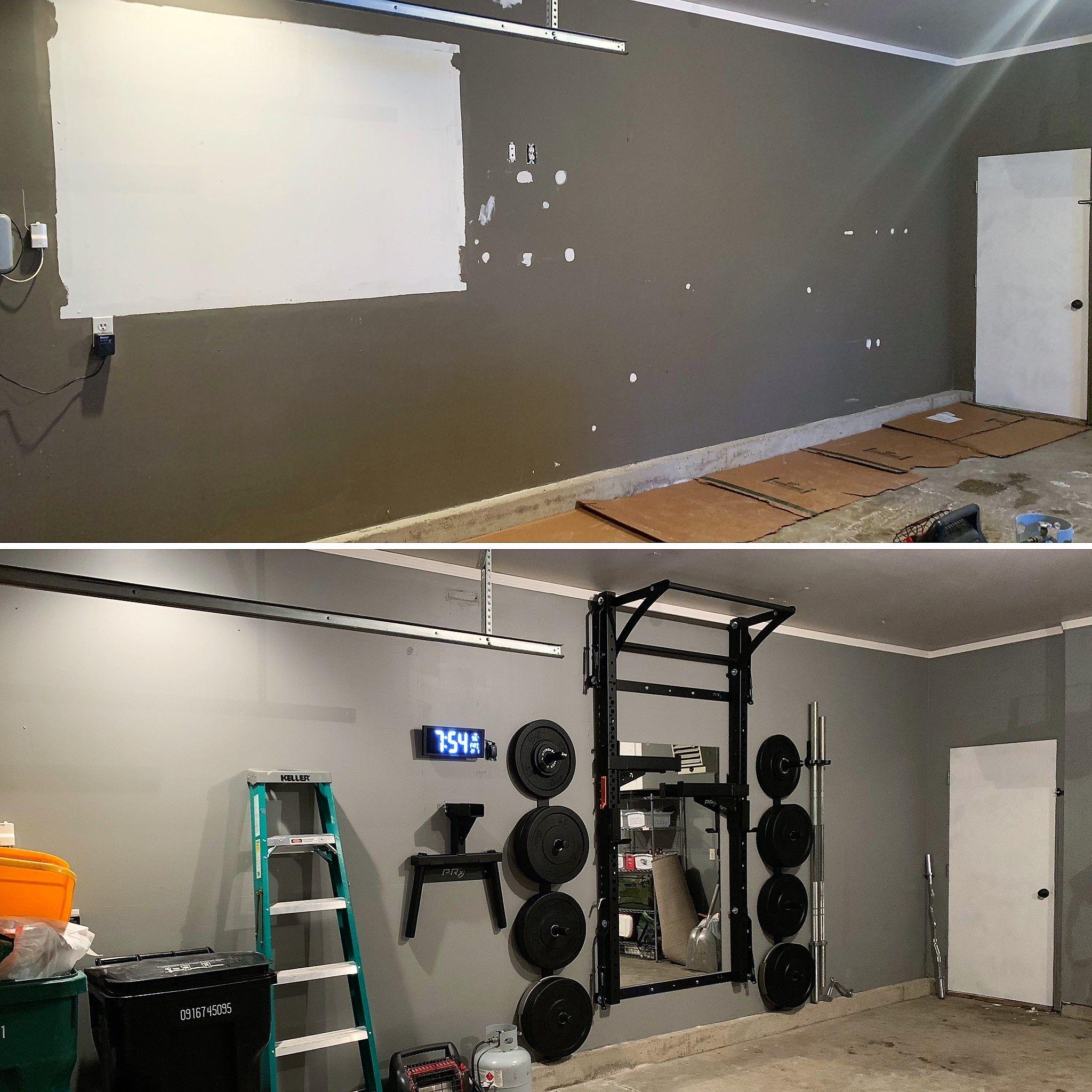 Garage Gym Transformation No Equipment Workout At Home Gym