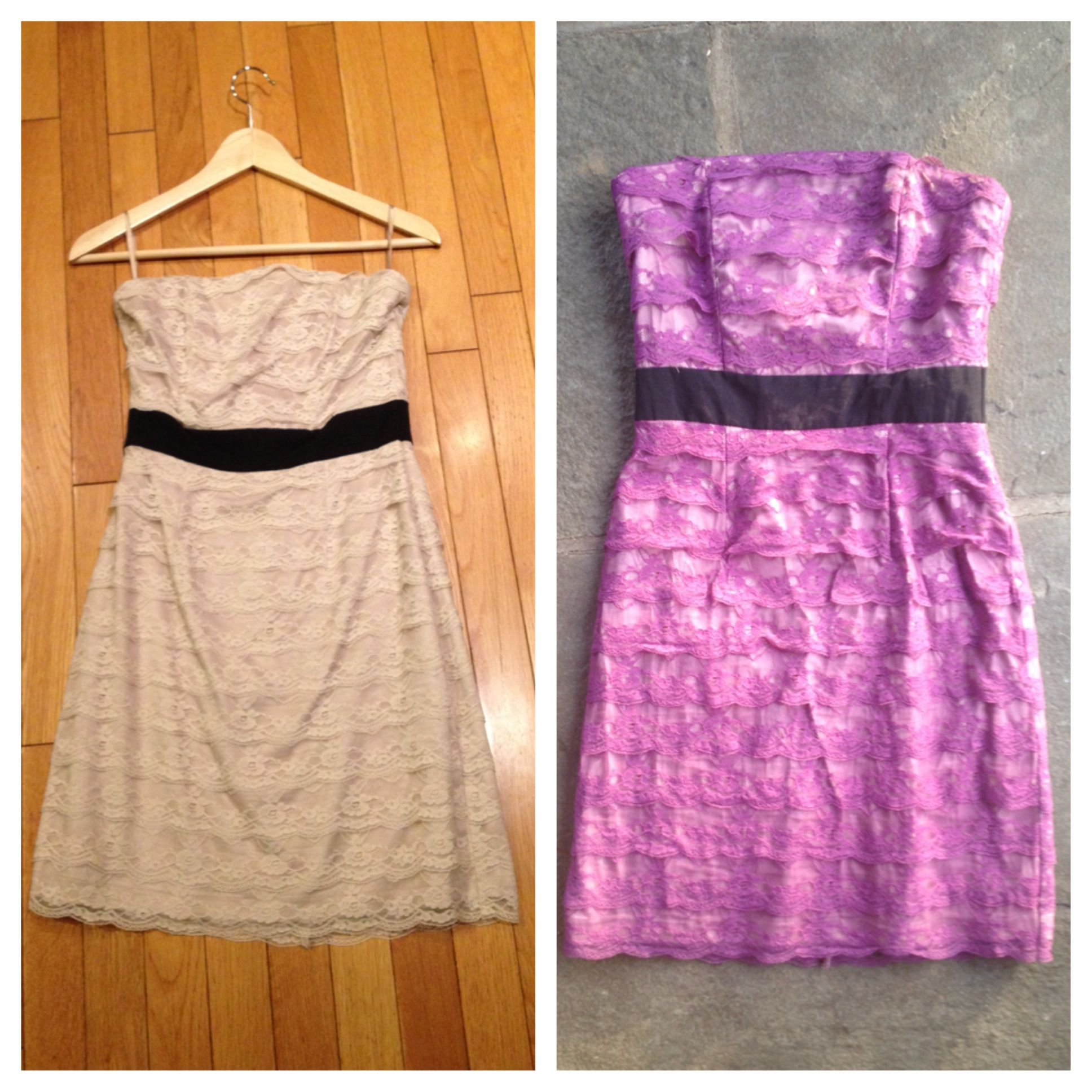 Great Before And After Custom Rit Dyed Dress. Tutorial By