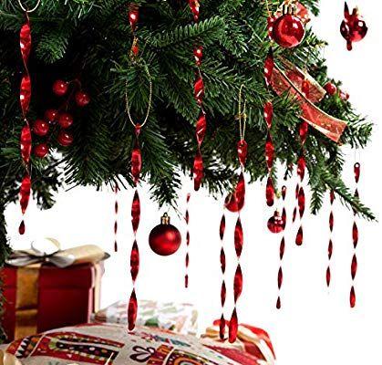 "AMS Christmas Ball Pendant Ornaments (7"" 24ct"