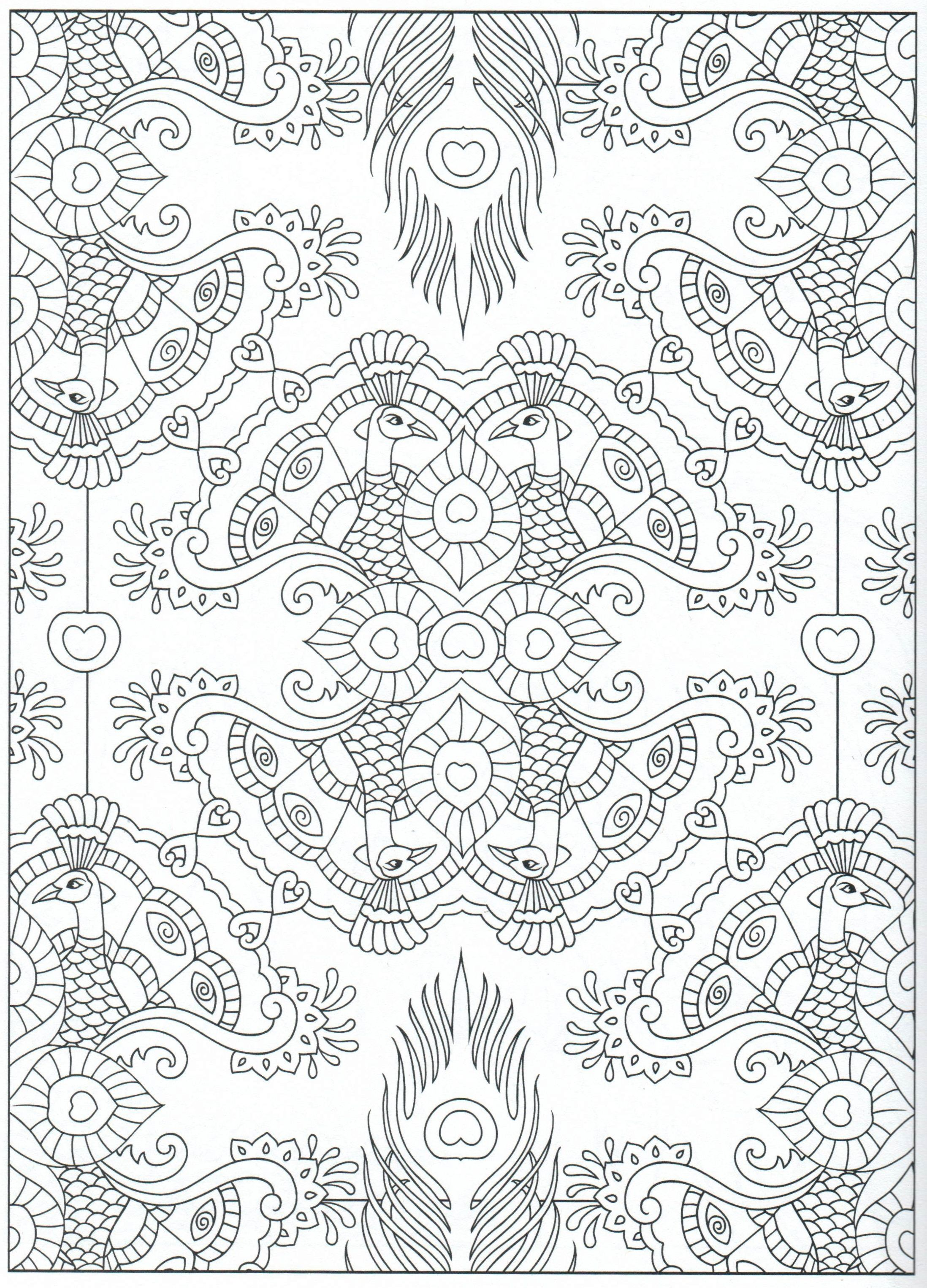 Peacock coloring page, for adults 9/31 | Colouring pages for Kids ...