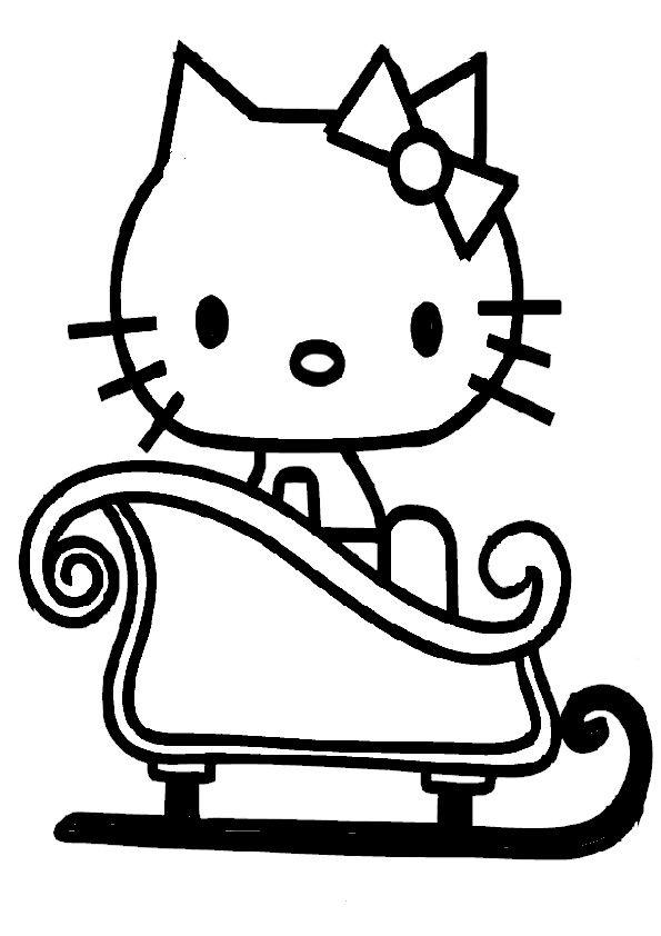 Ausmalbilder Weihnachten Hello Kitty 01 Ausmalbilder