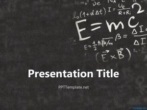 einstein physics ppt template for math and physics subjects