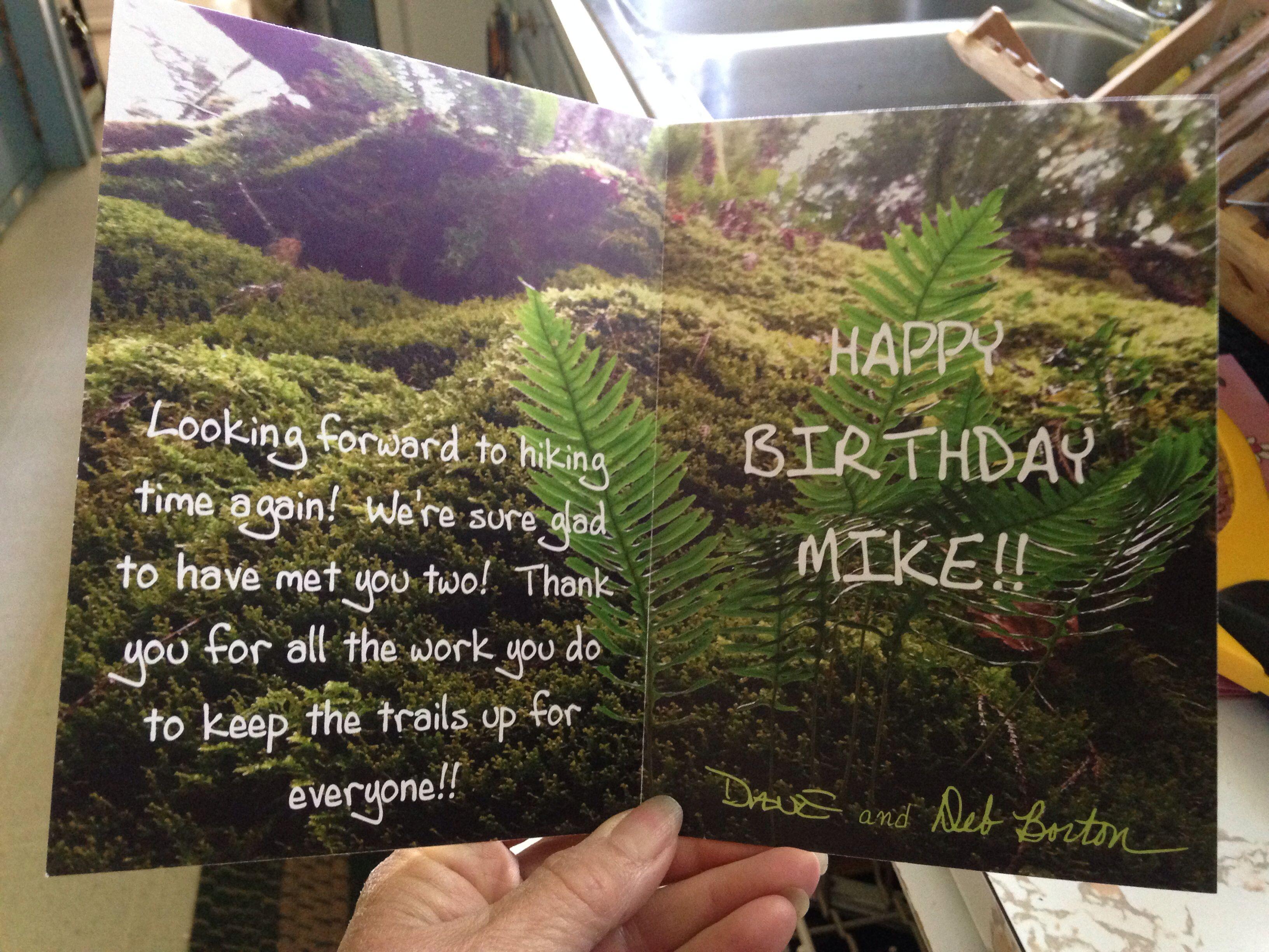 Inside Of Birthday Card I Made Using A Photo I Took On A Hike You