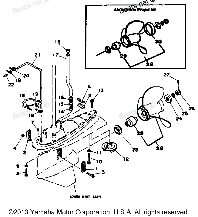 Click on image to download 1986 Yamaha 150ETXJ Outboard
