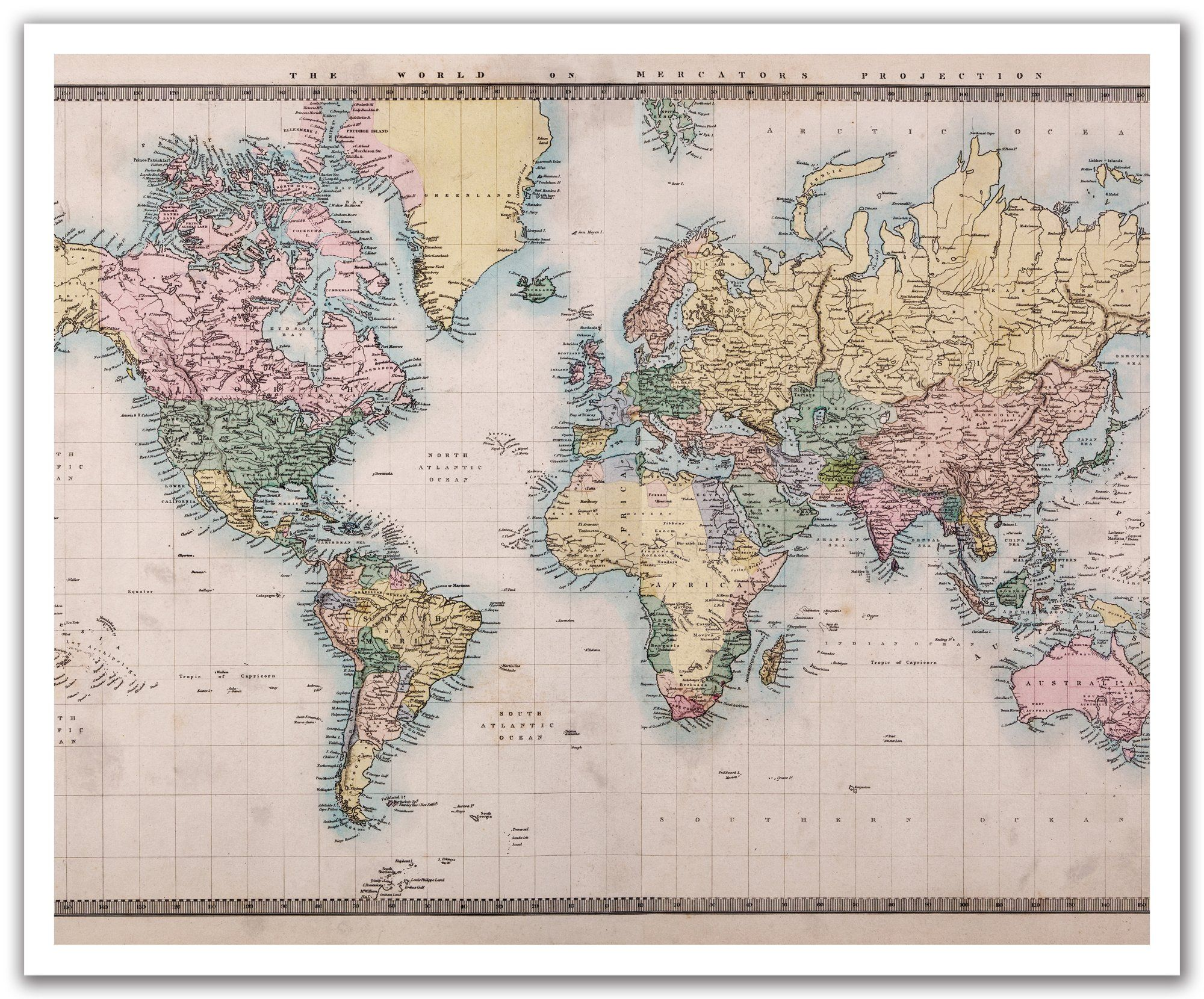 Explore Old World Maps, Vintage World Maps And More