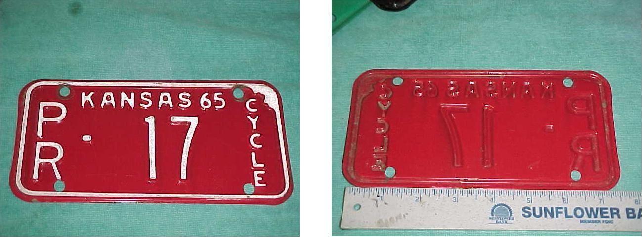 http://motorcyclespareparts.net/2-digit-17-cycle-biker-motorcycle-tag-license-plate-kansas-1965-pratt-county/2 DIGIT 17 CYCLE BIKER MOTORCYCLE TAG LICENSE PLATE KANSAS 1965 PRATT COUNTY