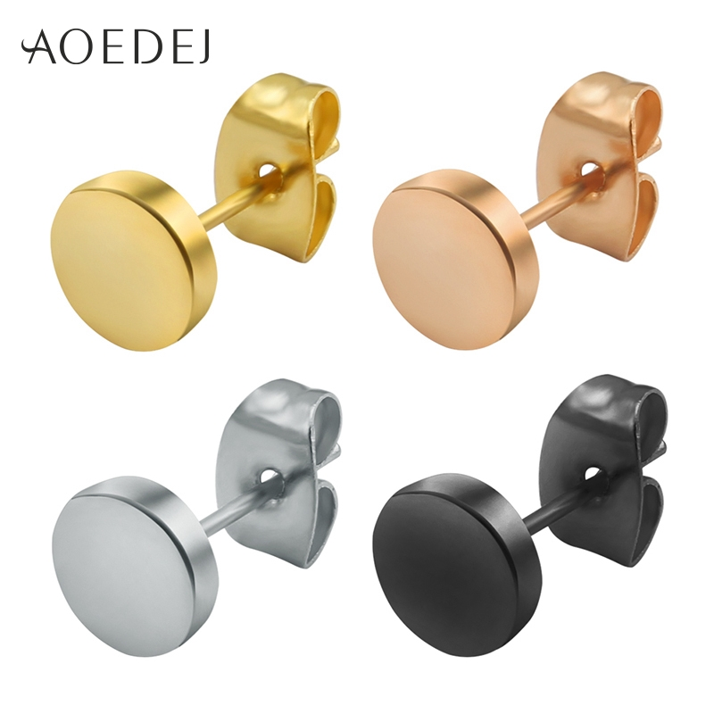 1.79$ Watch more here - 3-14mm Round Men Earring Stainless Steel ...