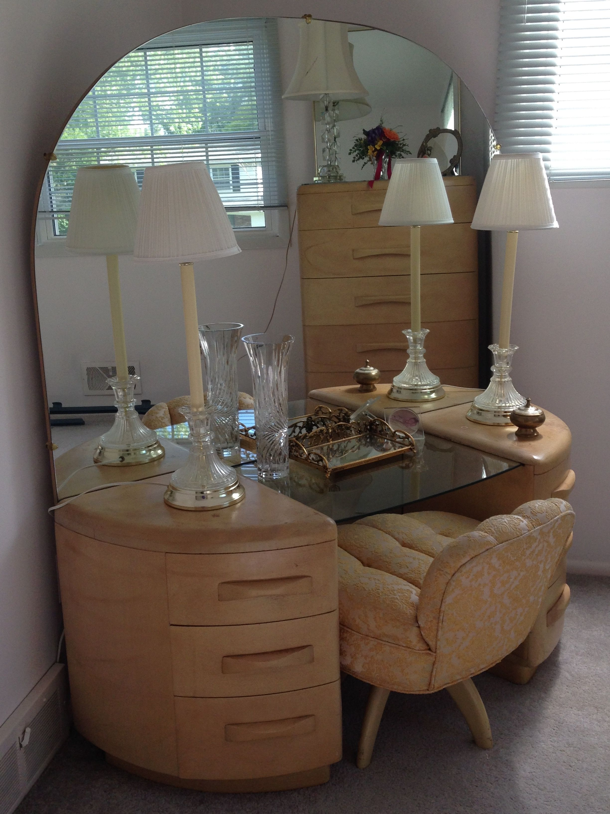 Heywood Wakefield Bedroom Set Detroit Michigan Craigslist Luxurious Bedrooms Retro Home Decor Dressing Table Vanity