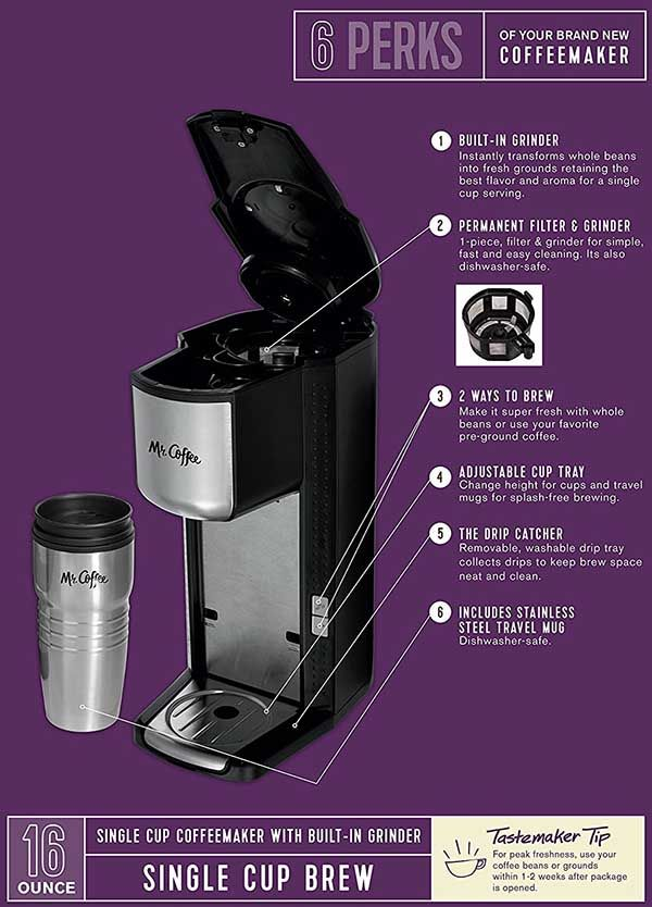 Grind And Brew Coffee Maker Features Coffee Brewing Coffee Maker Brewing