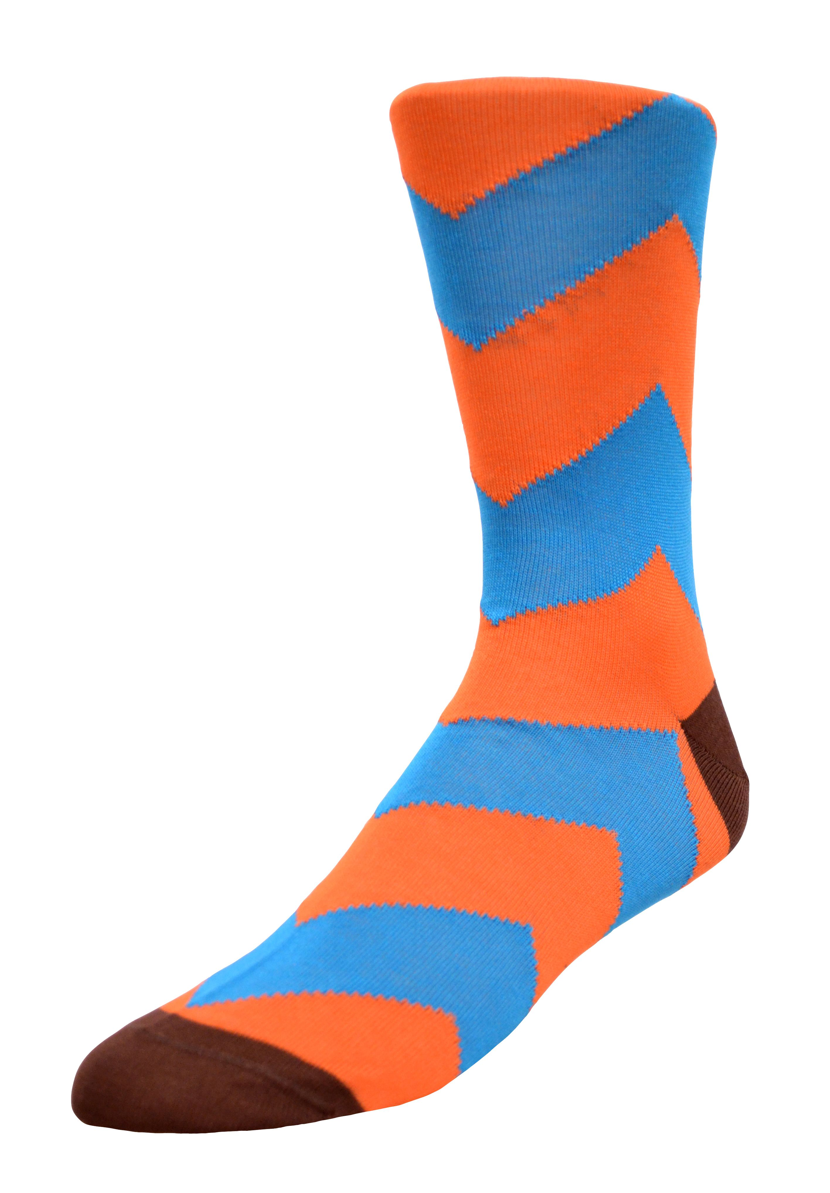 Now Available on www.lorenzouomo.com! Cotton Herringbone Sock- Bright colors with contrasting heel and toe!