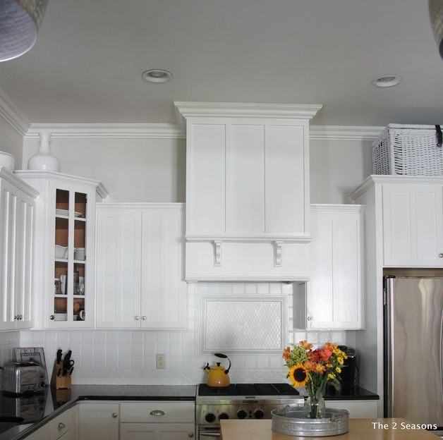 A Homeowner Hangs A Board From Her Kitchen Ceilinga Few Steps Entrancing Kitchen Vent Hood 2018